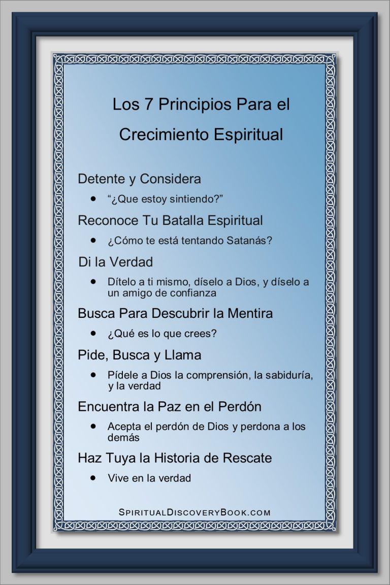 Spanish 7 Principles 4x6 blue gradient