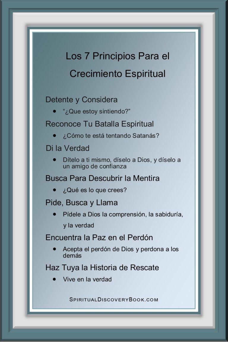 Spanish 7 Principles 4x6 green gradient